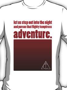 Flighty Temptress Adventure - Dumbledore and Potter setting off. T-Shirt