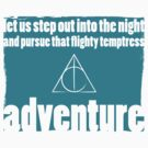 Flighty Temptress Adventure - Dumbledore and Potter embarking on an adventure. by wittytees