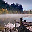 Loch Ard jetty and boat house by Robert Dettman