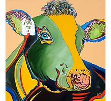 Activist Cow Photographic Print