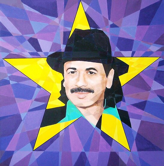Homage to Carlos Santana by Joseph Barbara