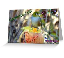 Challenge Winner Banner - I love birds group Greeting Card