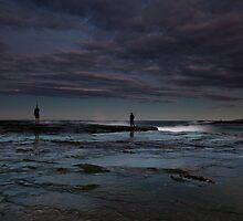 Winter Fishermen by MiImages