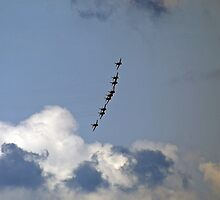 'Festival of speed' Red Arrows 4 by Charlotte Jarvis