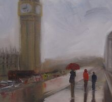 Wet street, London by Tash  Luedi Art
