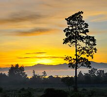 Sunrise Over Davao Gulf by wlchin