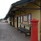 'YE OLD RAILWAY STATION!' Goolwa Wharf Precinct. by Rita Blom