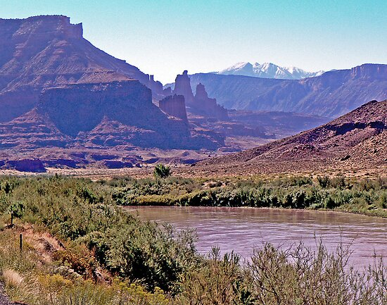 Colorado River & La Sal Mountains by Graeme  Hyde