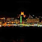 Newcastle by Night Pano by bazcelt
