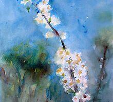 Spring flower white awakening fragrance - lovely gift by natalyborissov
