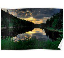 Ontario Lake Sunset Poster