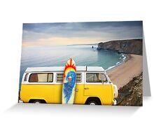 Surfer Van Greeting Card