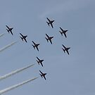 Formation Flying - Red Arrows by JohnBuchanan