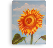 Sun Flower Oil Painting Canvas Print