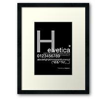 Helvetica Poster Framed Print