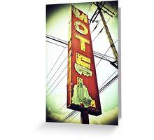 Highway 99 Motel Greeting Card