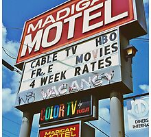Classic motel sign by Justintron