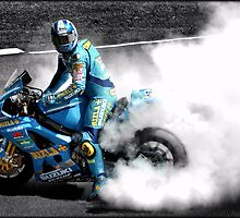 Cal Crutchlow Burnout by Paul Shellard