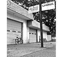 Lou's auto center Photographic Print