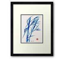 SOFT BREEZE - Original watercolor ink wash painting Framed Print