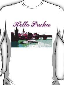 Beautiful Praha castle and karls bridge art T-Shirt