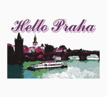 Beautiful Praha castle and karls bridge art by cheeckymonkey