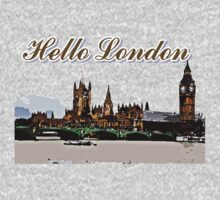 Beautiful London Bigben& Thames river art by cheeckymonkey
