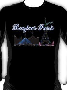 Beautiful architecture Luvoure museum,Effel tower  Paris france graphic art T-Shirt
