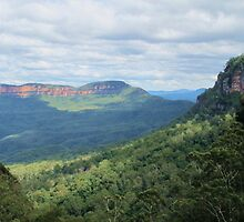 Mt Solitary from Leura by Michael John