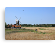 Cley Windmill with royal wedding bunting Canvas Print