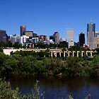 Denver across the South Platte River by Klaus Girk