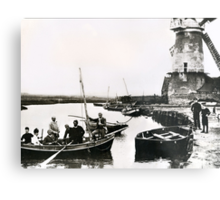 Cley windmill - the shooting party 1888 Metal Print
