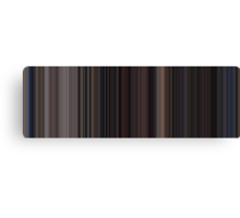 Moviebarcode: Back to the Future Part II (1989) [Simplified Colors] Canvas Print