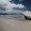 Boat on Donegal Shore, Ireland by Ewa Zagorska