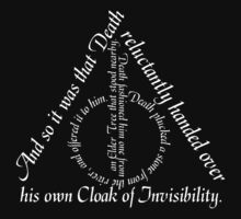 The Deathly Hallows White Text  by AngryMongo