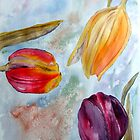 Three Tulips by Denise Hammond-Webb