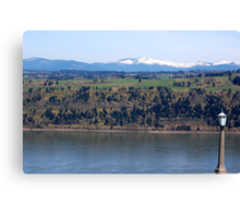 View of Columbia river from Crown Point Canvas Print