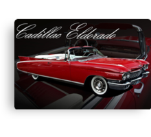 1960 Cadillac 62 Series Convertible El Dorado Canvas Print