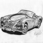 MGA - Classic Car by BigBlue222