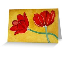Tulips with Love, Happy Together  Greeting Card
