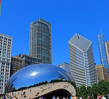Millenium Park and The Bean by Chuck Zacharias