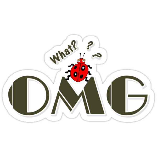 OMG What? Funny & Cute ladybug line art by cheeckymonkey