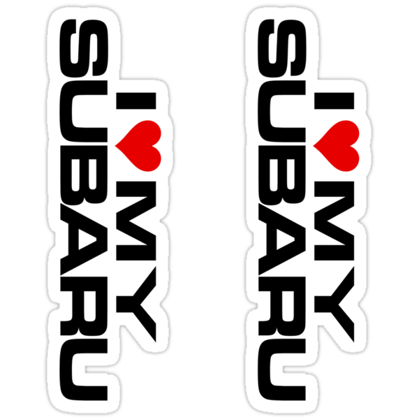 I love MY Subaru Die-Cut Stickers (2) by avdesigns
