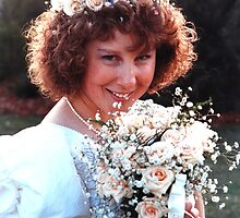 Bride and Her Bouquet by Graham Mewburn