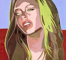 I am as tedious as these bland acrylic colours! (Lindsay Lohan) by Ken  Wentworth