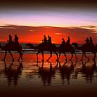 Broome Camel Train by Kat de la Perrelle