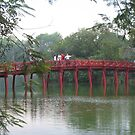 Hanoi Huc bridge. by machka