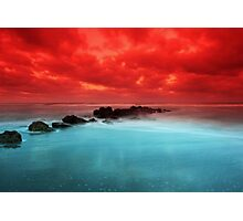 Red Sky at Morning Photographic Print