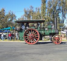 Tractors on Parade at Tocumwal NSW Australia by Margaret Morgan (Watkins)