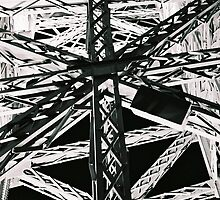 Eiffel Tower Grids at Night by Christopher Hignite